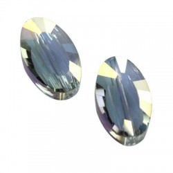 Krystal flat faceted 10664