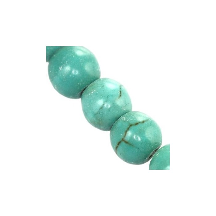 Round beads turquoise 8mm (price for pice)