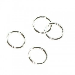 Jump ring  silver color 5mm    11384