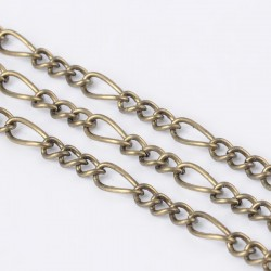 Iron handmade chains figaro chains mother-son     CHSM001Y-AB