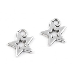 Charm pendant star  12x12mm 220642