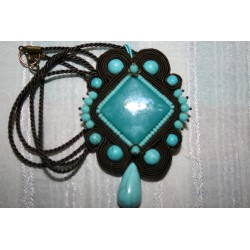Pendant with soutache  6165