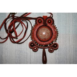 Pendant with soutache  6166