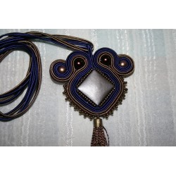 Pendant with soutache  6168