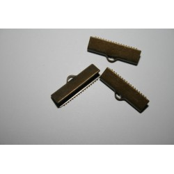 Brass ribbon ends  KK-MSMC014-M  6323