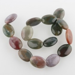 Natural agate glossy oval colorful