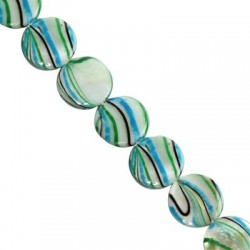 Mother of pearl  coins 14mm   10129