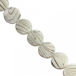 Mother of pearl  coins 14mm   10153
