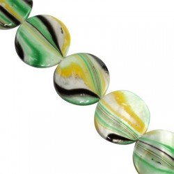 Mother of pearl  coins 14mm   10145