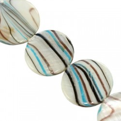 Mother of pearl  coins 20mm   10130