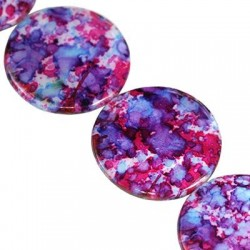 Mother of pearl  coins 30mm 10060