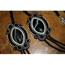 Necklace with soutache  6550