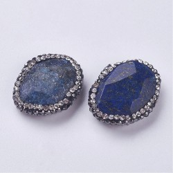 Natural Lapis Lazoyli faceded rhinestones  G-F384-02C
