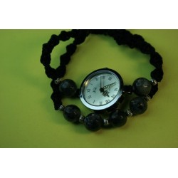 Watch with Macrame and Metallic Beads 02-02-4672